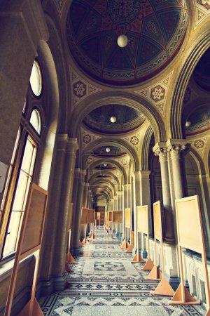 Internal halls in beautiful historical building of Chernivtsi national university