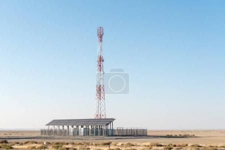 Cell phone telecommunications tower, using solar power only