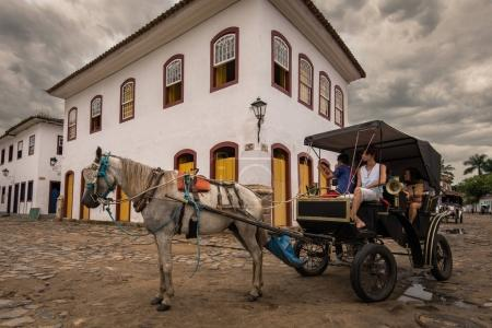 Horse carriage in Brazil