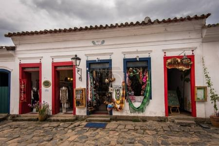 Colorful handicraft in Paraty old town