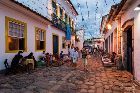 Streets of Paraty in the evening