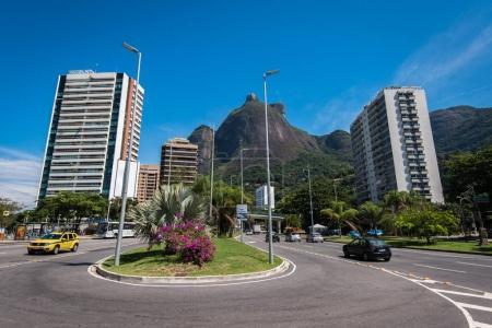 Main avenue crossing Sao Conrado