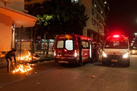 Chaos in the streets of Rio