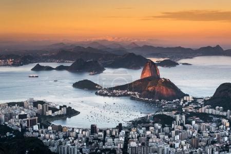 Beautiful Rio de Janeiro at Sunset