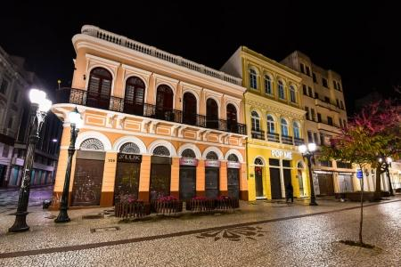 Colorful buildings on square