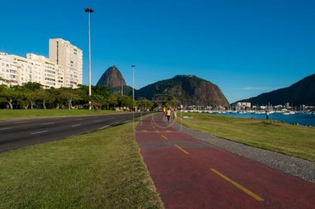 People on track for running in park, Rio de Janeiro