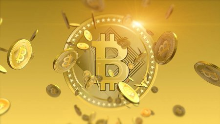 Shiny bitcoins financial background