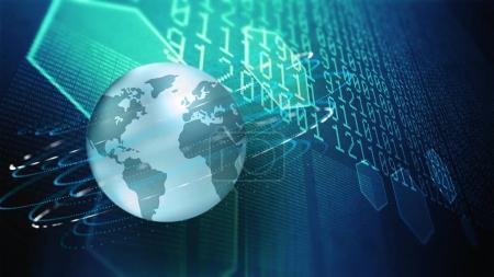 Foto de Tecnologías modernas de la investigación y la información en el ciberespacio - Imagen libre de derechos
