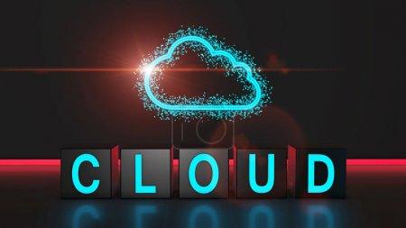 Photo pour Données Cloud Computing comme concept - image libre de droit