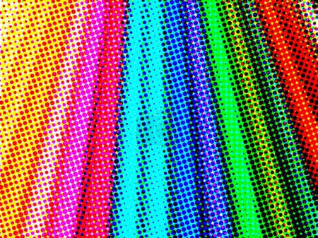 abstract color halftone pencils
