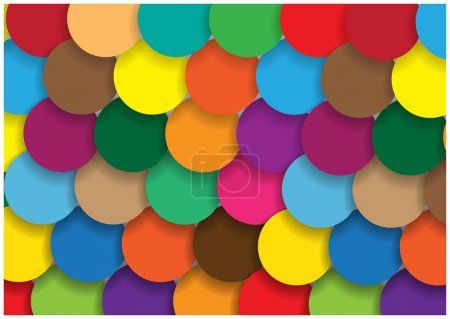 Illustration for Color vector pattern with flat design bright bubbles - Royalty Free Image