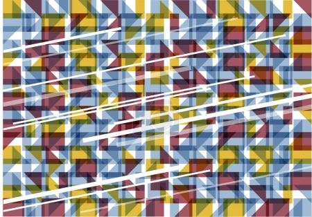 abstract vector background with symmetrical shapes and lines