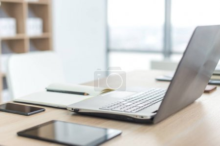 Workplace with notebook laptop