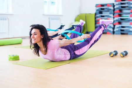 Fit women stretching