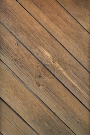 Photo for Old brown wood plank wall or desk texture background - Royalty Free Image