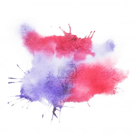 Photo for Colorful retro vintage abstract watercolour aquarelle paint - Royalty Free Image