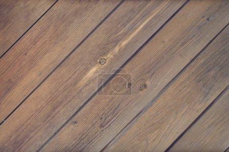Photo pour Vieille brune fond de planche de bois mural ou de bureau de texture - image libre de droit