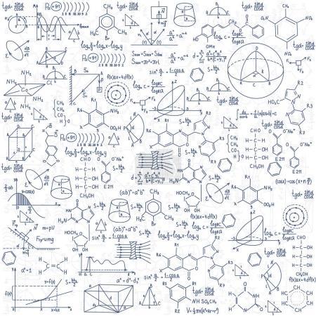 Hand drawn chemistry formulas