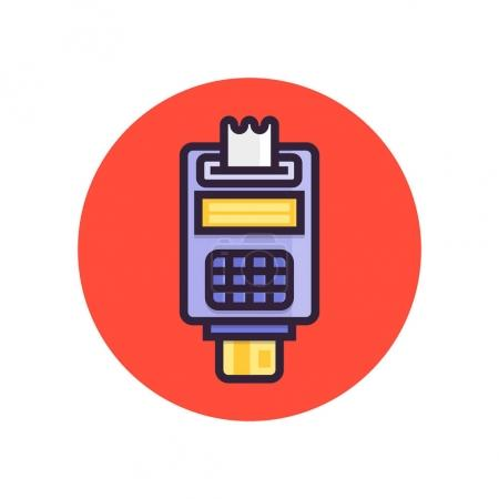 Pos terminal. Point of sale concept payment by cre...