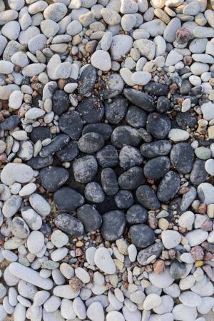Stones in rock garden