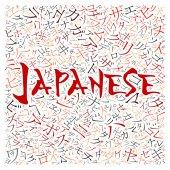 Creative japanese alphabet texture background