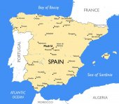 Spain map | Vector detailed color Spain map