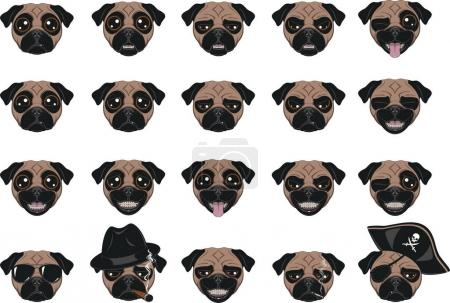 Set of funny dogs