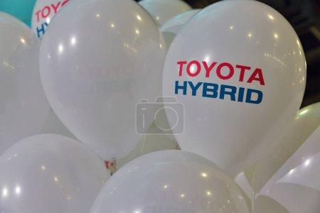 Toyota hybrid car booth on