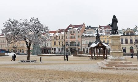 Christmas Market square in Rzeszow, Poland.