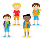 Collection of Cute and Ethnically Diverse Male Students and Children