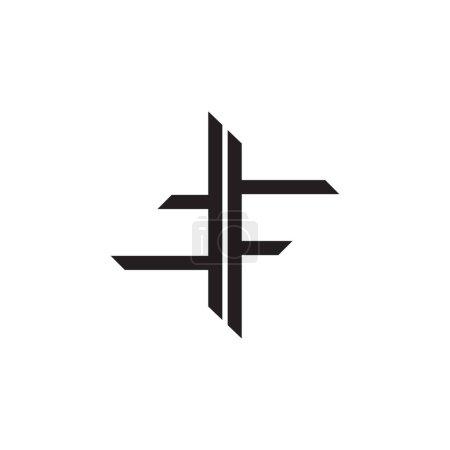Illustration pour Abstrait lettre tf simple ligne géométrique logo vecteur - image libre de droit