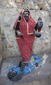 Goddess Kali Ma Murti in Jaipur Temple near local smashan. Statu