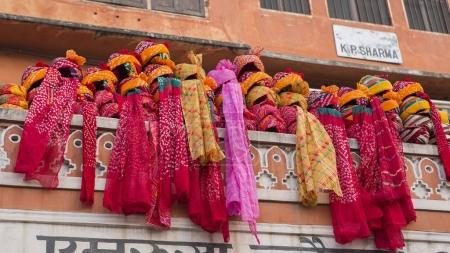 JAIPUR, INDIA  2017. Indian Turbans on the street ...