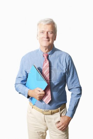 businessman with documents in his hand