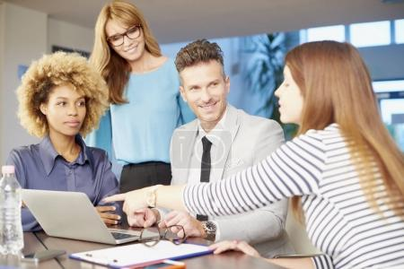 A business management team