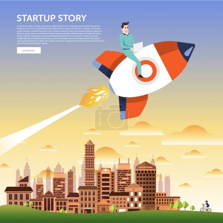 Startup concept illustrate