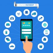 Flat design concept payment Payment method and option or channe