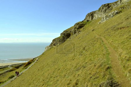Llandudno west shore view of Great Orme