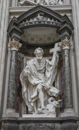 The statue of St. Philip by Mazzuoli in the Archbasilica St.John
