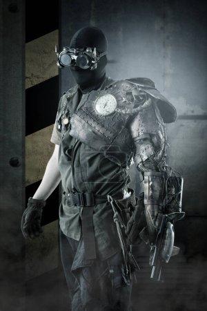 futuristic  cyber warrior