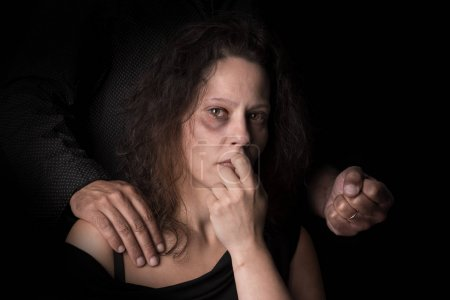 Photo for Abused woman victim of domestic violence - Royalty Free Image