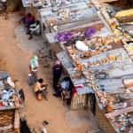 Delhi, India - circa 2020 : Aerial shot of people ...