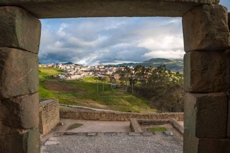 Ingapirca Inca wall, largest known Inca ruins in Ecuador
