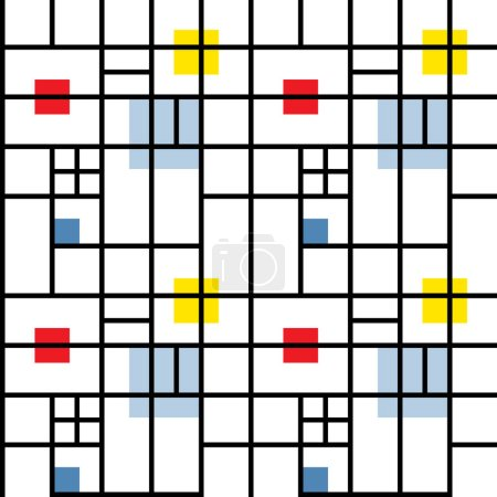 Seamless Pattern Suprematism Style