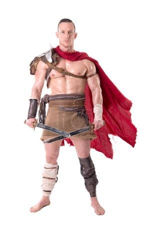 Man in gladiator armor