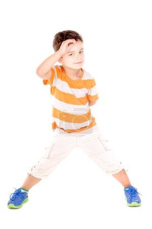 Cute boy having fun