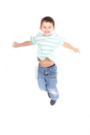 Little boy having fun