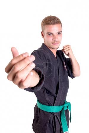 karate fighter posing