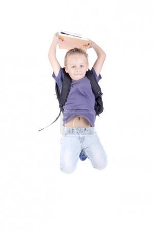 little boy posing