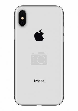 Silver Apple iPhone X back